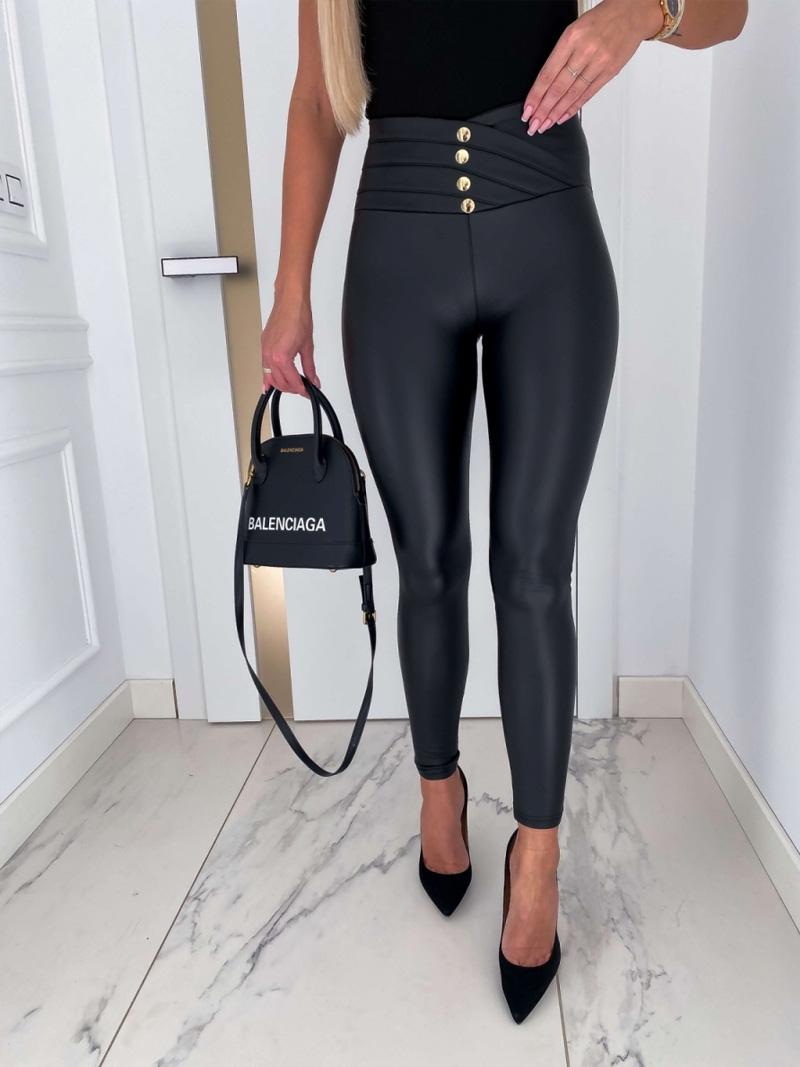 Spodnie zwysokim stanem