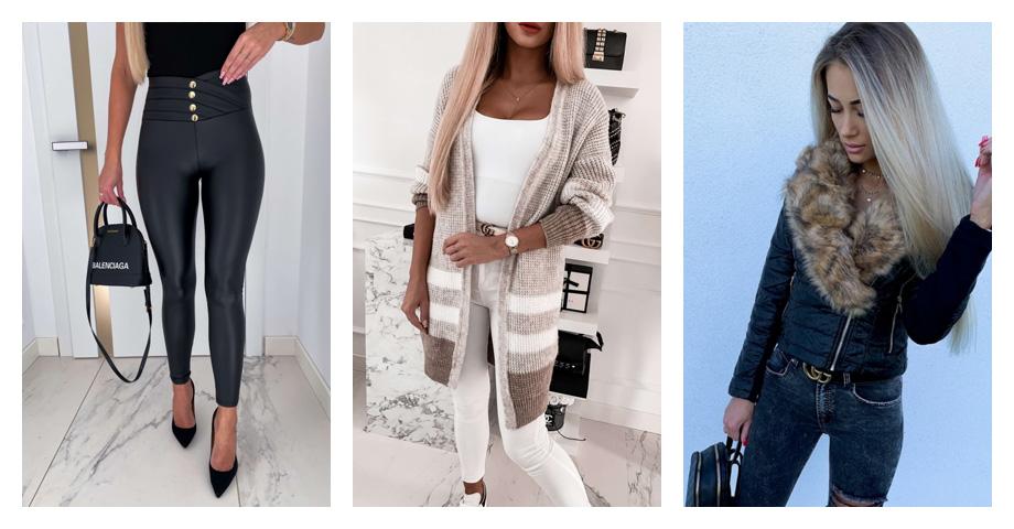 Ciepłe ubrania imodne stylizacje zimowe