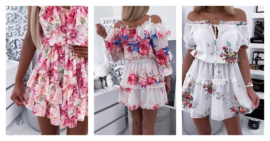 Sukienki wkwiaty