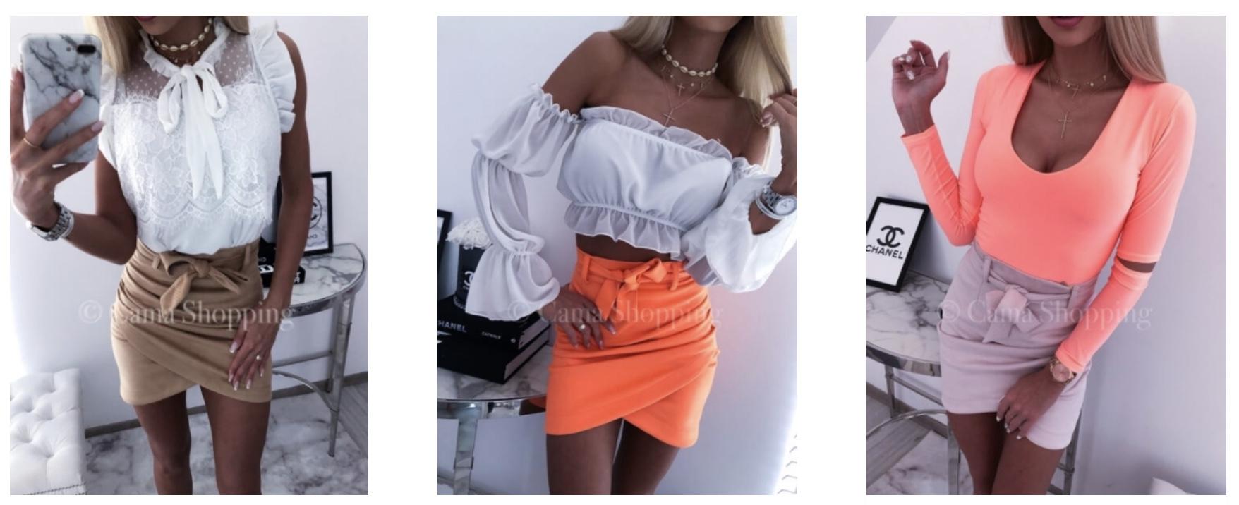 Bluzki damskie dostępne wCama Shopping