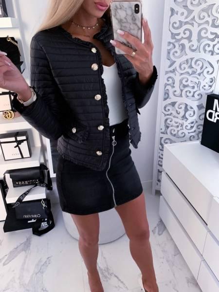 kurtka damska pikowana chanel czarna