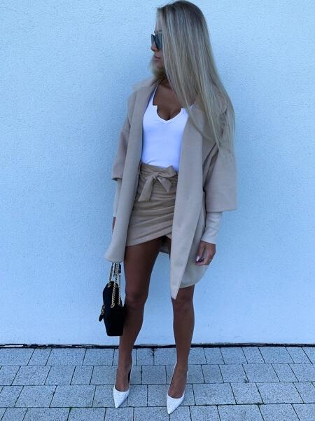 płaszcz damski beżowy clami