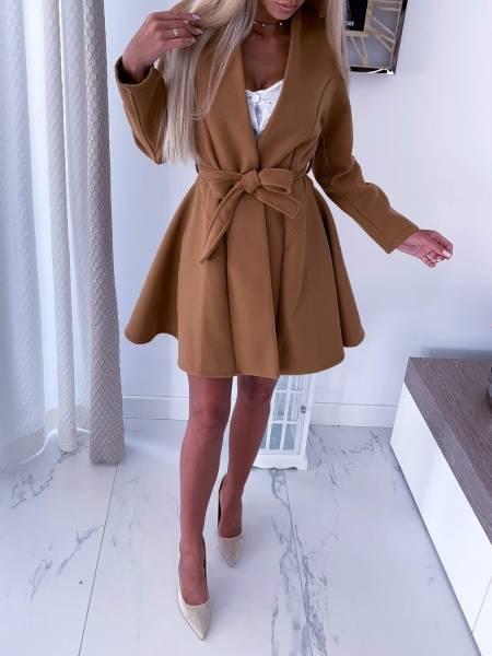 płaszcz damski karmel umbrella