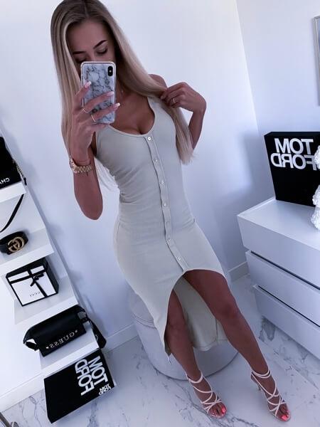 sukienka asymetryczna frak