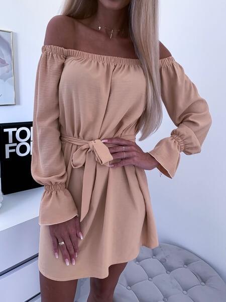 sukienka beżowa samanta