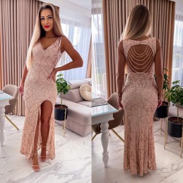 Sukienka cekinowa Maxi Kameleon Gold