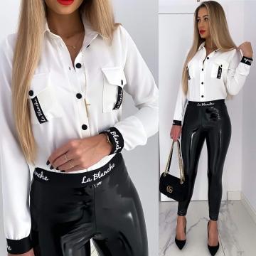 Biała koszula z kieszonkami La Blanche