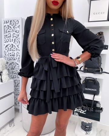 Czarna Sukienka MALAGA