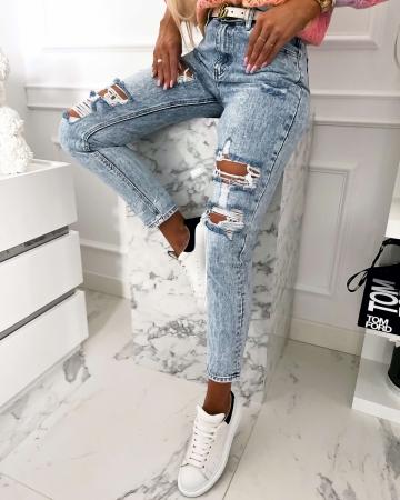 Spodnie Jeans z dziurami Boyfriend