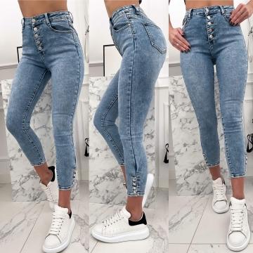 Spodnie Jeans z napami na nogawkach