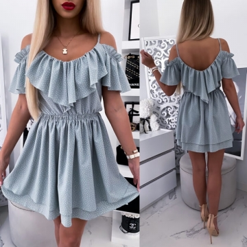 Sukienka z falbankami w kropki