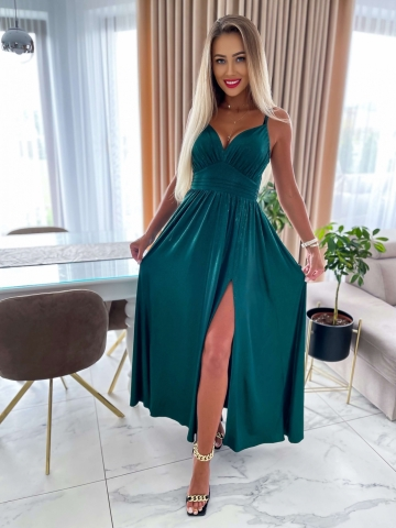 Zielona sukienka mieniąca się Crystal