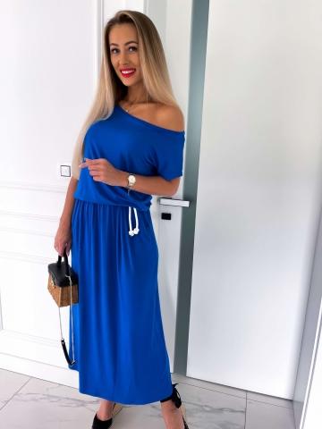 Chabrowa letnia sukienka Maxi