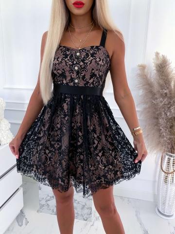 Sukienka koronkowa z ozdobnymi guzikami Lili