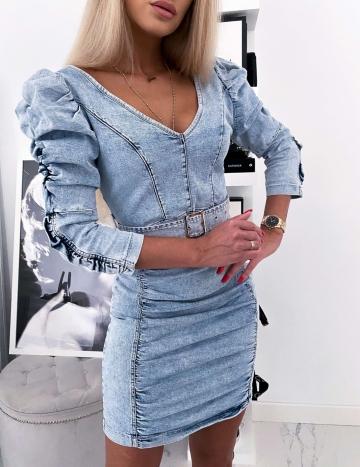 Sukienka Jeans z Bufkami