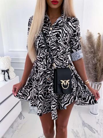 Sukienka koszulowa Zebra