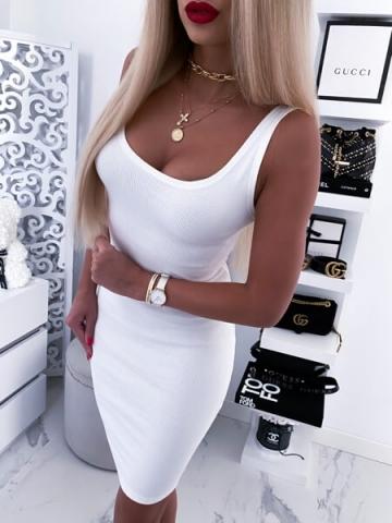 Kremowa letnia Sukienka MALWI
