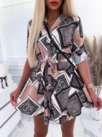 Sukienka koszulowa geometryczna Animal