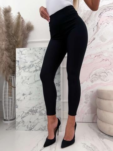 Czarne eleganckie materiałowe spodnie Lola