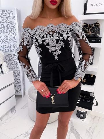 Sukienka hiszpanka bogato zdobiona Silver