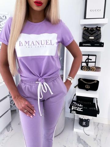 T-shirt Liliowy La Manuel