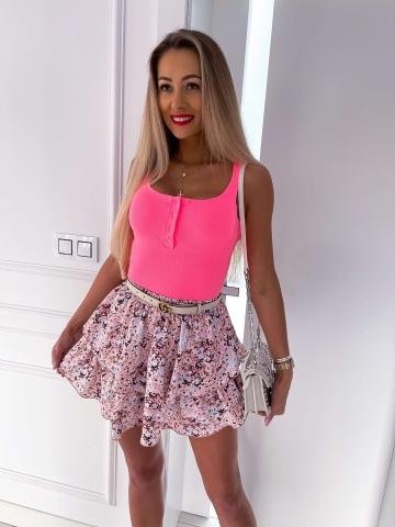 Neonowa bluzka guziki Lou