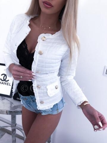Biała kurtka Chanelka