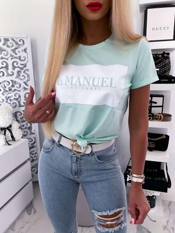 Miętowy T-shirt La Manuel