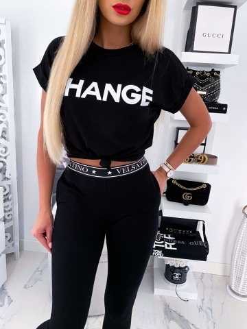 Czarny T-shirt Change
