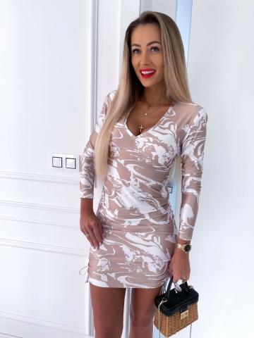 Dopasowana sukienka ze ściągaczami La MilLa