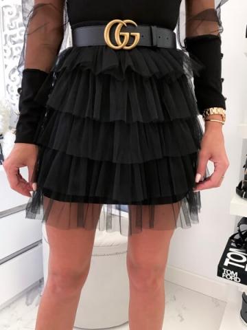Czarna spódniczka tiulowa