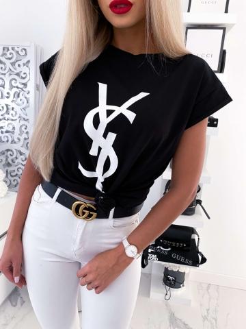 T-Shirt czarny YSLOVE