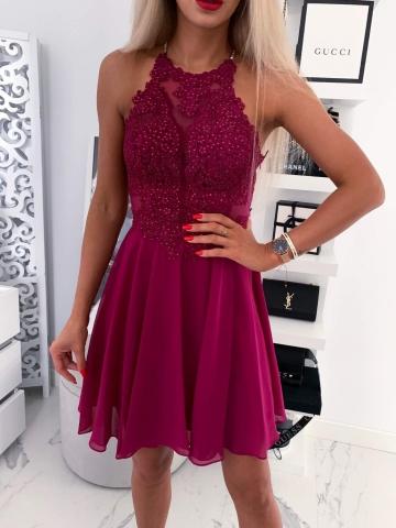 Fioletowa sukienka Mercedes
