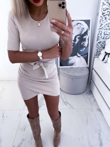 Sukienka Jasny Beż Crazy
