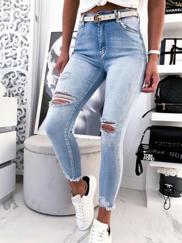 Spodnie dżinsowe z dziurami NOEMI
