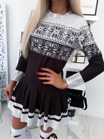 Sukienka czarno biała Merry
