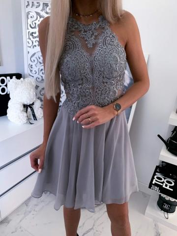 Szara sukienka Mercedes