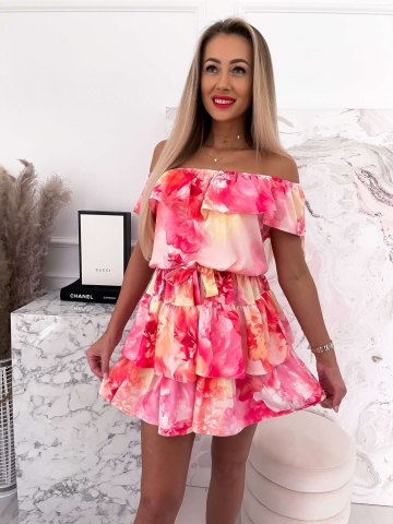 Sukienka hiszpanka w kwiaty Miami