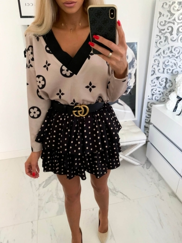 Sweter oversize beżowy Luis