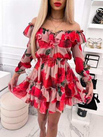 Sukienka Hiszpanka w kwiaty