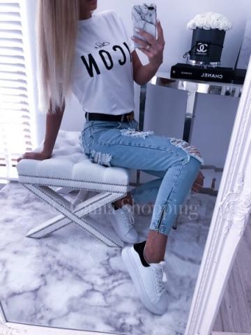 Biały T-Shirt ICON