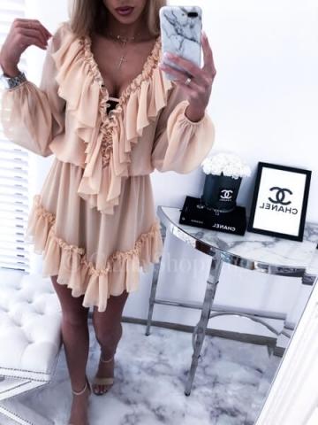 Sukienka LUIZJANA Beż