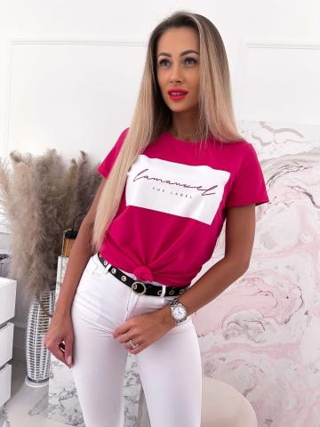 Malinowy T-shirt La Manuel