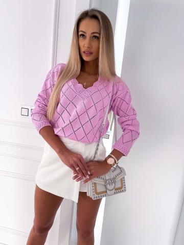 Ażurowy luźny sweter Lilia Bocca
