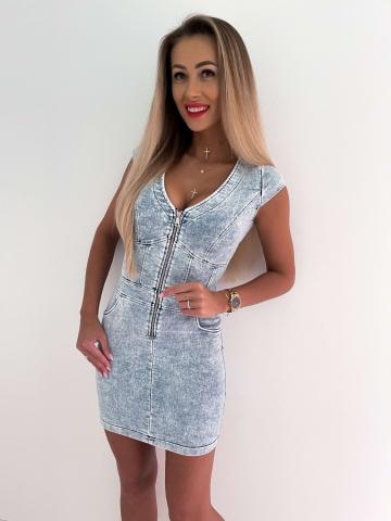 Sukienka Jeans z zamkiem Luvme