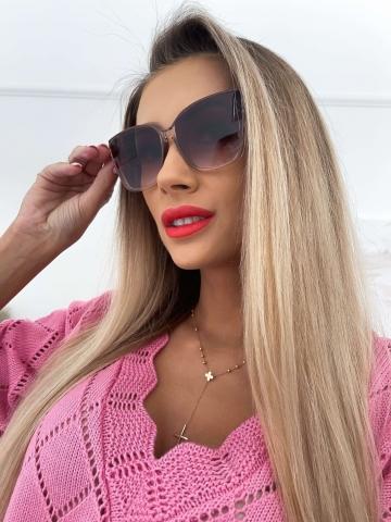 Brązowe okulary przeciwsłoneczne Code