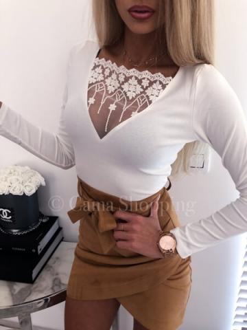 Biała bluzka koronka MISSI