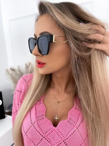 Czarne okulary przeciwsłoneczne BUGATTI