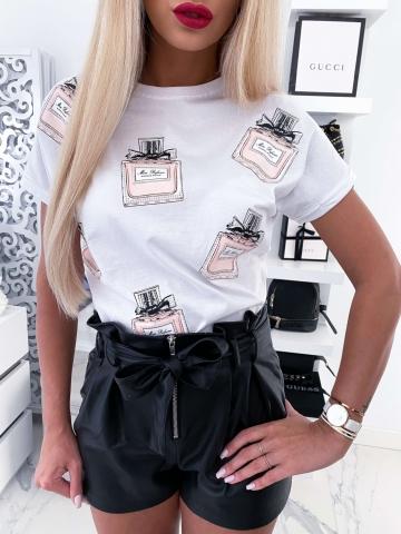 Biały T-shirt Miss Dior