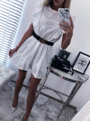 Sukienka BOHO AŻUROWA MOTYL